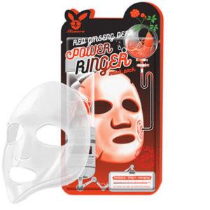 """Тканевая маска для лица с экстрактом красного женьшеня регенерирующая """"Elizavecca"""""""