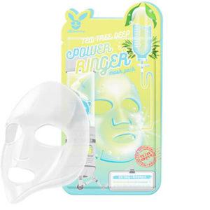 """Тканевая маска для лица с экстрактом чайного дерева успокаивающая """"Elizavecca"""""""