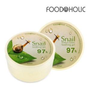 """Универсальный гель с улиточным муцином 97% Snail Firming and Moisture Soothing Gel """"FoodaHolic"""""""
