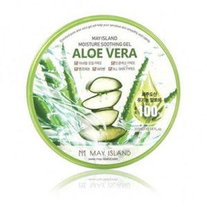 """Универсальный увлажняющий гель для ухода за кожей и волосами с алоэ вера Aloe Vera Soothing Gel """"May Island"""""""