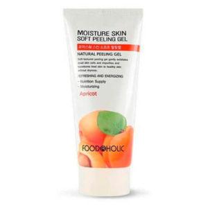 """Увлажняющая гель-скатка для лица с экстрактом абрикоса Moisture Skin Soft Peeling Gel Apricot """"FoodaHolic"""""""
