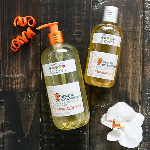 """Шампунь и гель для душа ваниль и мандарин """"Nature's Baby Organics"""""""