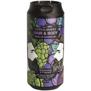 Очищающий гель для тела и волос хмель и виноград